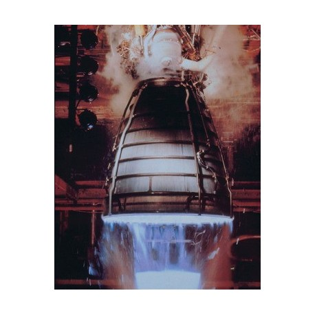 The rocket engine principle examined in terms of Newton's 3rd Law of Motion. (Space Shuttle main engine)