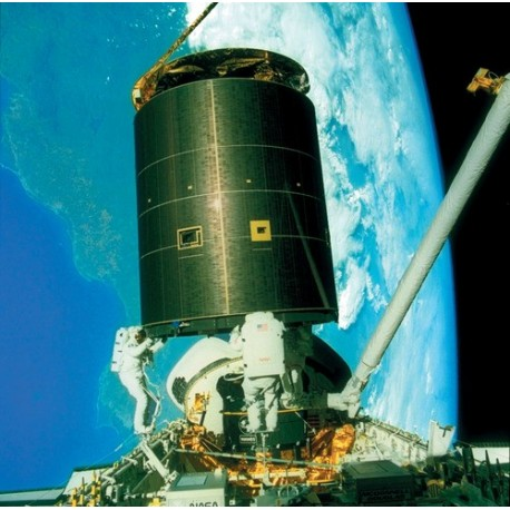 The distinction between weight and mass becomes very apparent as astronauts move a satellite while in orbit.